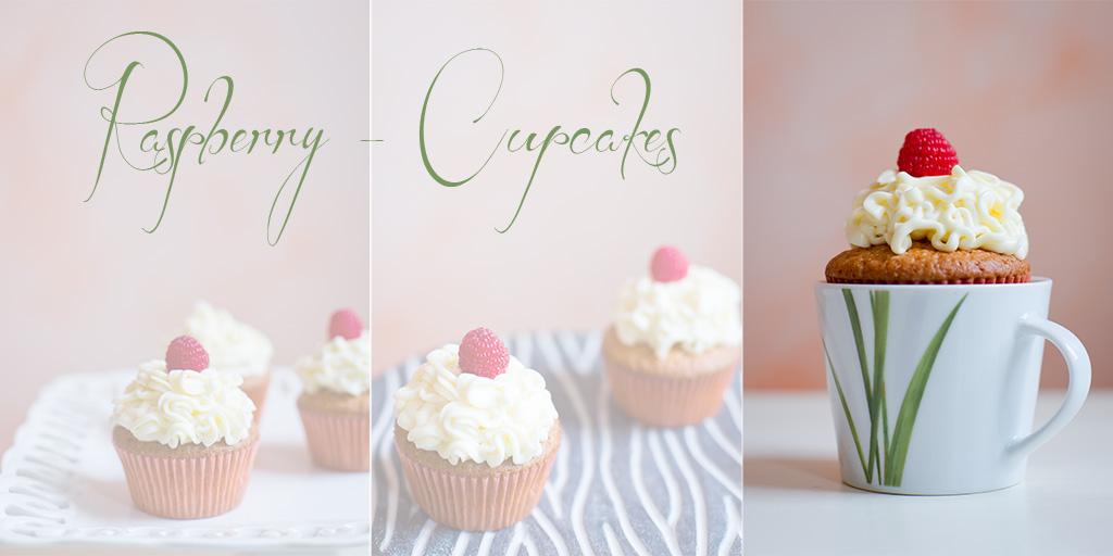 Collage Himbeercupcakes