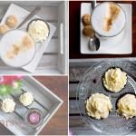 Collage schwarzweißcupcakes