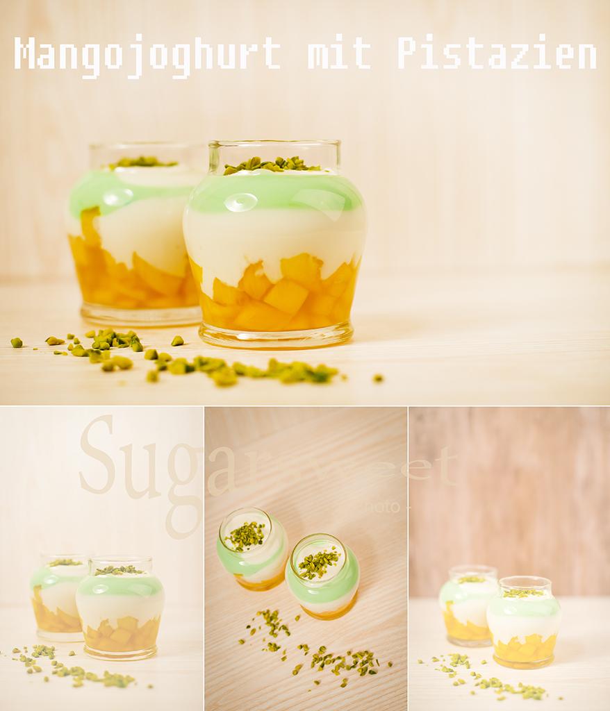 Joghurt auf Mango