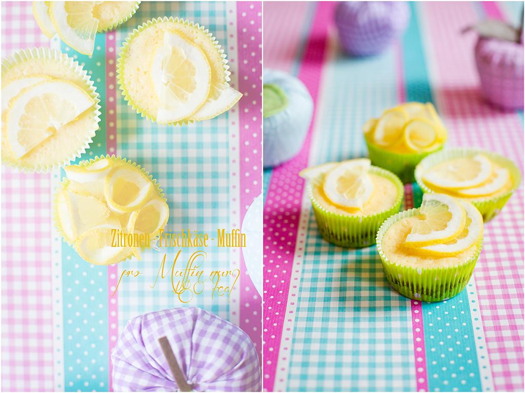 ZitronenFrischkäseMuffins Collage