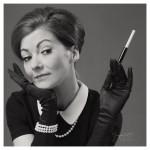 Hepburn sw mit Rahmen kleiner